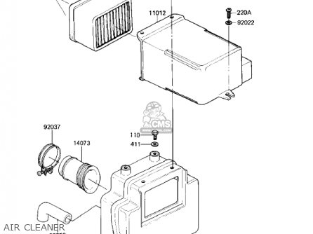 Kawasaki Kz305a1 Csr 1981 Usa parts list partsmanual