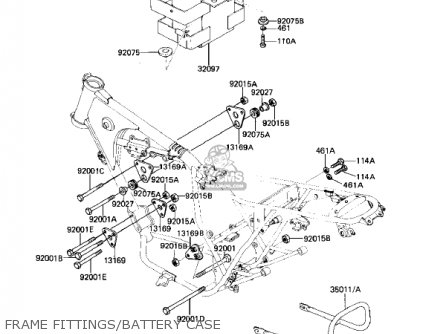 Kawasaki Kz305a2 Csr 1982 Usa parts list partsmanual