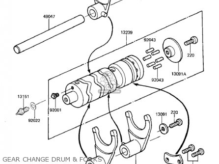 Kawasaki KZ305A2 CSR 1982 USA parts lists and schematics