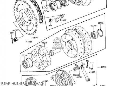 Kawasaki Kz305a2 Csr 1982 Usa parts list partsmanual