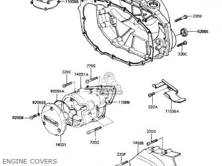 Kawasaki KZ305B1 CSR 1982 USA / BELT DRIVE parts lists and