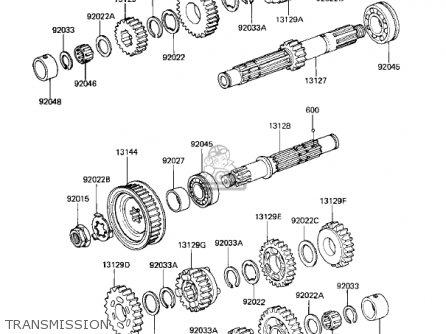 Kawasaki Kz305b1 Csr 1982 Usa / Belt Drive parts list