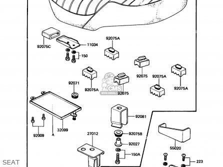 Kawasaki Kz305b3 Ltd305 1988 Usa California parts list