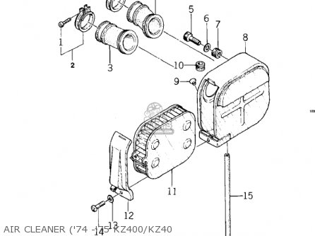 Kawasaki KZ400 1974 USA CANADA / MPH KPH parts lists and