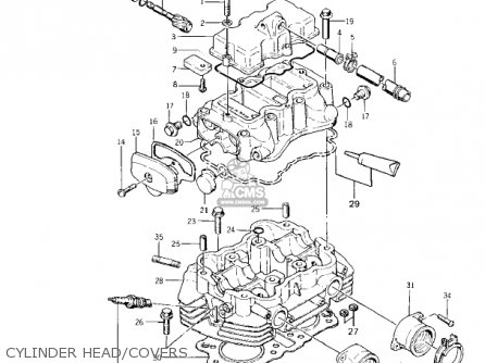 Kawasaki KZ400A1 1977 USA / MPH parts lists and schematics