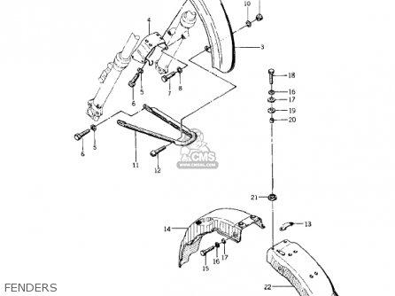 Kawasaki KZ400A1 1977 USA / MPH parts lists and schematics