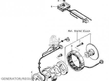 Kawasaki KZ400A2 1978 USA / MPH parts lists and schematics