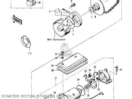 Kawasaki Kz400a2 1978 Usa / Mph parts list partsmanual
