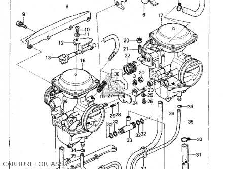 Kawasaki Kz400b2 1979 Canada parts list partsmanual partsfiche