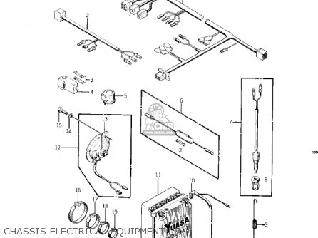 Kawasaki KZ400D 1975 CANADA parts lists and schematics