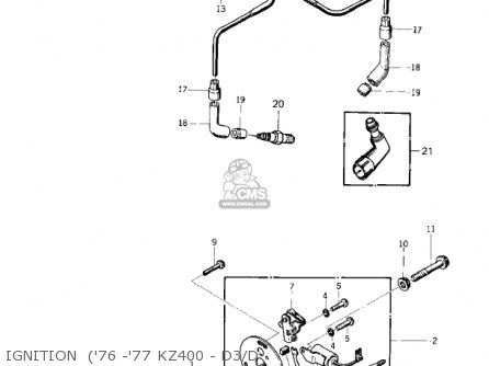 Kawasaki KZ400D 1975 CANADA parts lists and schematics