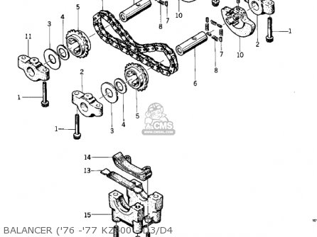 Kawasaki KZ400D3 1976 CANADA parts lists and schematics