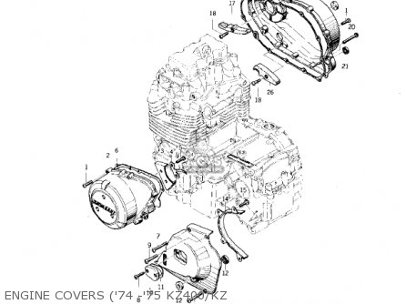 Kawasaki Kz400d3 1976 Canada parts list partsmanual partsfiche