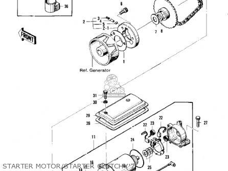 Kawasaki Kz400d3 1976 Canada parts list partsmanual partsfiche