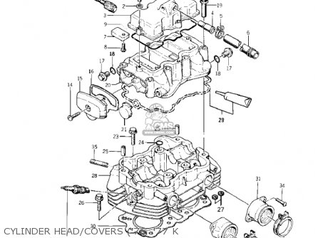 Kawasaki KZ400D4 1977 CANADA parts lists and schematics