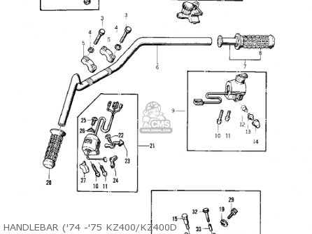 Kawasaki Kz400d4 1977 Canada parts list partsmanual partsfiche