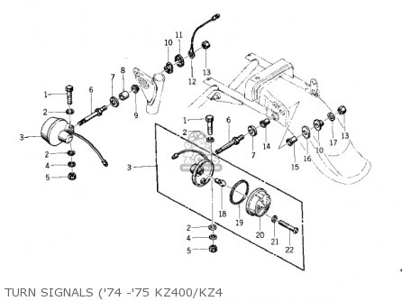 Kawasaki Kz400d4 1977 Canada parts list partsmanual partsfiche