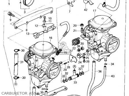 Kawasaki Kz400h1 1979 Usa Canada / Mph Kph parts list