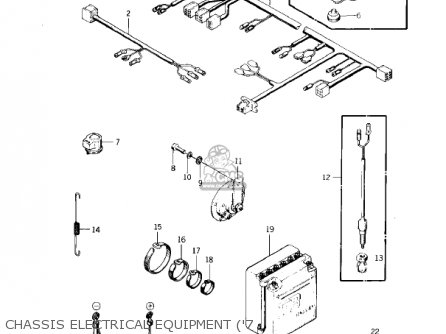 Kawasaki KZ400S SPECIAL 1975 USA CANADA parts lists and