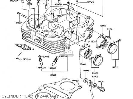 Kawasaki Kz440a4 Ltd 1983 Usa Canada parts list