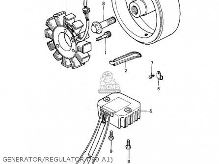 Kawasaki KZ440A4 LTD 1983 USA CANADA parts lists and