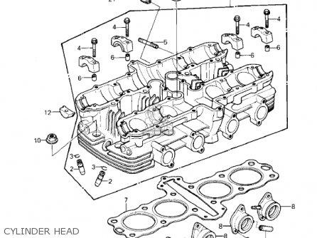 Kawasaki KZ550A2 1981 USA CANADA parts lists and schematics
