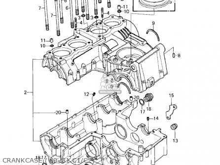 Kawasaki KZ550C1 LTD 1980 USA CANADA parts lists and