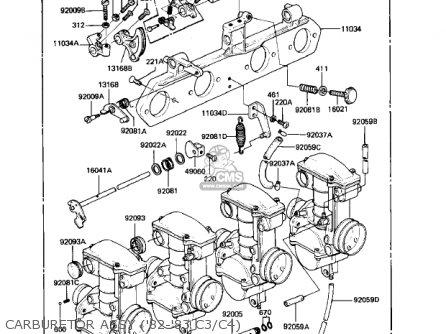Kawasaki Kz550c3 Ltd 1982 Usa Canada parts list