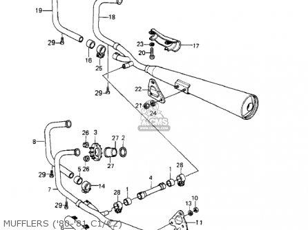 Kawasaki KZ550C3 LTD 1982 USA CANADA parts lists and