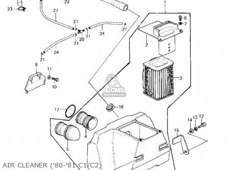 Kawasaki Kz550c4 Ltd 1983 Usa Canada parts list