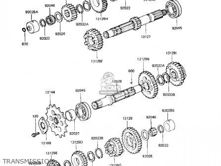 Kawasaki KZ550H2 GPZ 1983 USA CANADA parts lists and