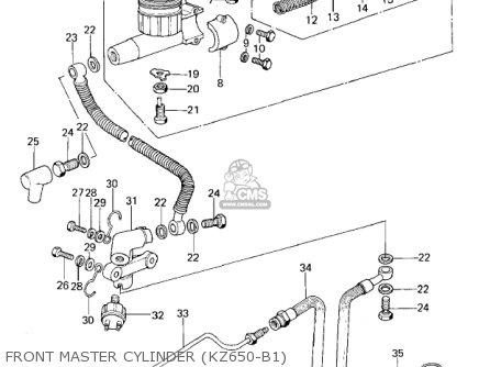 Kawasaki Kz650b1 1977 Usa Canada / Mph Kph parts list