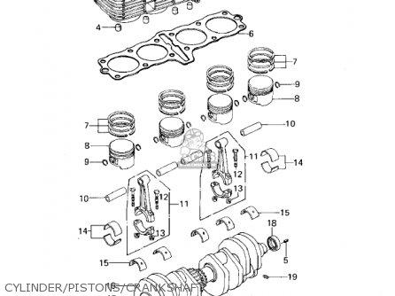 Kawasaki KZ650B2A 1978 USA CANADA / MPH KPH parts lists
