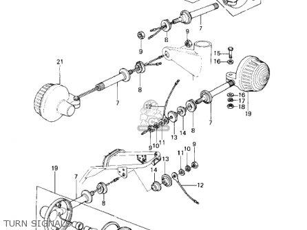 Kawasaki KZ650C3 CUSTOM 1979 USA CANADA / MPH KPH parts