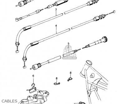 Kawasaki KZ650D1A SR 1978 USA CANADA parts lists and