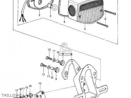 Kawasaki KZ650D2 SR 1979 USA CANADA parts lists and schematics