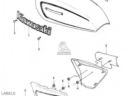 Kawasaki KZ650E1 LTD 1980 USA / MPH parts lists and schematics