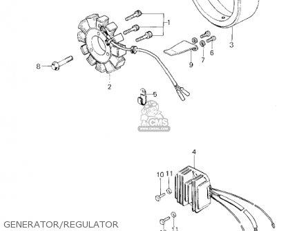 Kawasaki Kz650f1 1980 Usa Canada parts list partsmanual