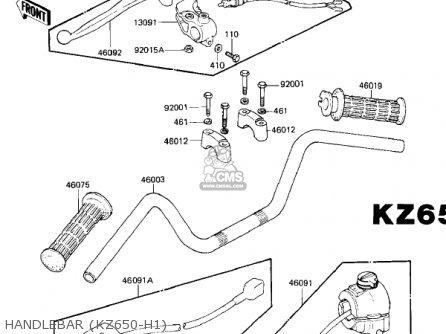 Kawasaki KZ650H2 CSR 1982 USA CANADA parts lists and