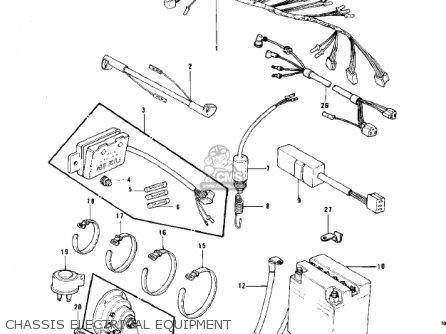 Kawasaki Kz750b1 1976 Usa Canada / Mph Kph parts list