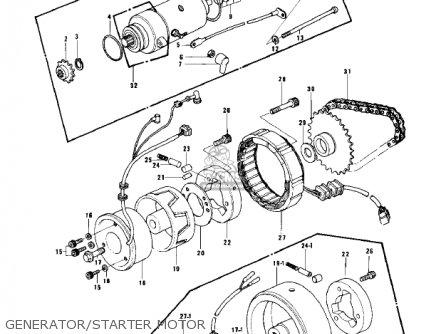 Kawasaki KZ750B2 1977 USA CANADA / MPH KPH parts lists and