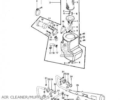 Kawasaki Kz750b3 1978 Usa Canada / Mph Kph parts list