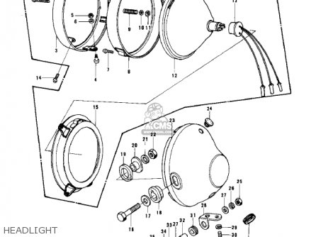 Kawasaki KZ750B4 1979 USA CANADA / MPH KPH parts lists and