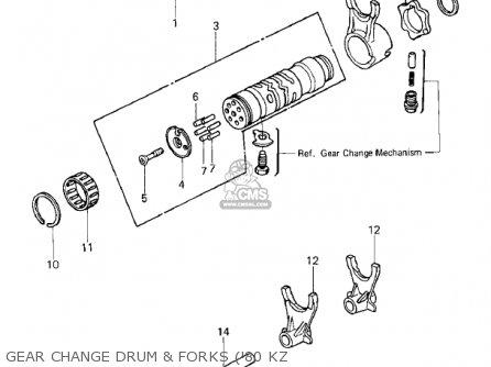 Kawasaki KZ750E2 1981 USA CANADA parts lists and schematics