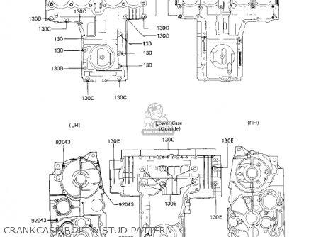Kawasaki KZ750F1 SHAFT 1983 USA CANADA / LTD parts lists