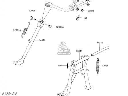 Kawasaki Kz750f1 Shaft 1983 Usa Canada / Ltd parts list