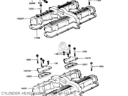 Kawasaki Kz750h1 1980 Usa Canada / Ltd parts list