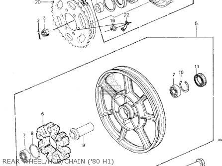 Kawasaki KZ750H2 1981 USA CANADA / LTD parts lists and