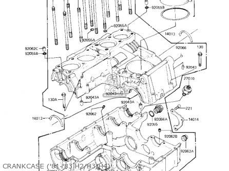 Kawasaki KZ750H3 1982 USA CANADA / LTD parts lists and