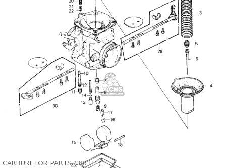 Kawasaki KZ750H4 1983 USA CANADA / LTD parts lists and